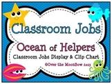 Ocean of Helpers Classroom Jobs Display & Clip Chart