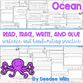 Oceans read, trace, glue, and draw