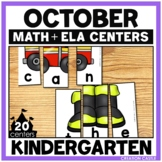 October Kindergarten Centers - Math and Literacy