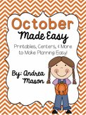 October Made Easy!  Printables, Centers, and More to Make