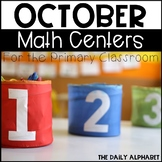 October Math Centers for the Primary Classroom