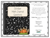 October Math Journal Prompts