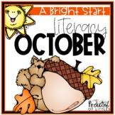 October Morning Bright {Kindergarten Literacy Morning Work}