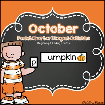 October Pocket Chart or Magnetic Letter Activities