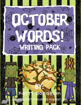 October Words! Writing Pack
