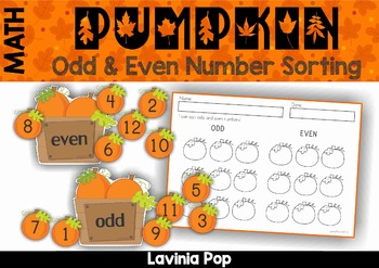 Odd and Even Sorting - Pumpkins {FREE}