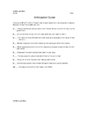 Of Mice and Men Worksheets