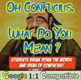 Oh, Confucius! What do you mean? Students analyze Confuciu