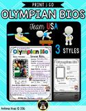 Olympics: Bio Writing Posters