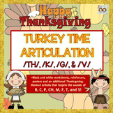 Speech Therapy: TURKEY TIME THANKSGIVING ARTICULATION: TH,