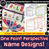One Point Perspective Name Design / Art Folder Design