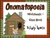 Onomatopoeia - Mini Books or Class Books