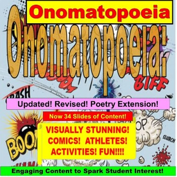 Onomatopoeia : Powerpoint Lesson and Exercises