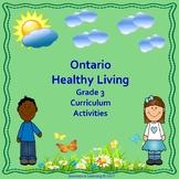 Ontario 2015 Healthy Living Grade 3 Curriculum Activities
