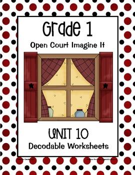 Open Court Imagine It Decodable Worksheets: Unit 10