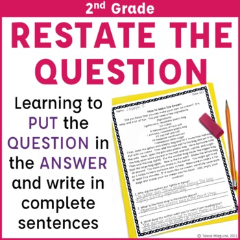 Open Ended Passages and Questions for 2nd Grade
