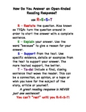 Open-Ended Reading Response Using the Acronym R-E-S-T