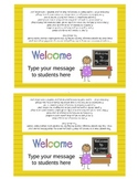 Open House Back to School Goodie Bag Bag Toppers (Editable