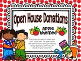 Open House Donations {Apple Theme}