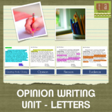 Opinion Writing Through Letters - Writing Workshop Paper U