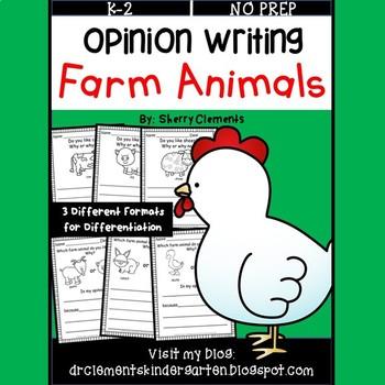 Opinion Writing: Farm Animals