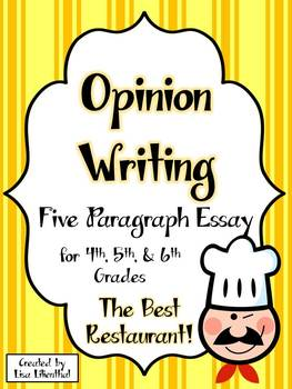 Opinion Writing ~ Five Paragraph Essay ~ 4th, 5th, 6th Grades {Common Core}