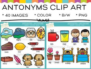 Opposites (Antonyms) Clip Art