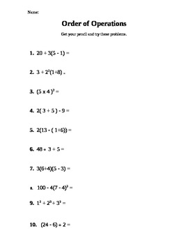 Order Of Operations - Lessons - Tes Teach