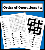 Order of Operations color worksheet #2