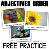 Ordering Adjectives Practice