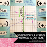 Ordered Pairs and Graphing Flippable (foldable) and Exit Ticket