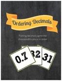 Ordering Decimals Sort & War Card Game {Common Core Aligned}