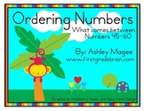 Ordering Numbers: What comes between? Numbers 0-110 Math Center