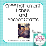 Orff Instrument Labels and Anchor Charts