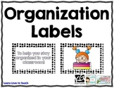 Organization Classroom Labels
