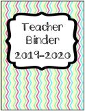 Organization Tool: Chevron Teacher Binder with Sub Folder