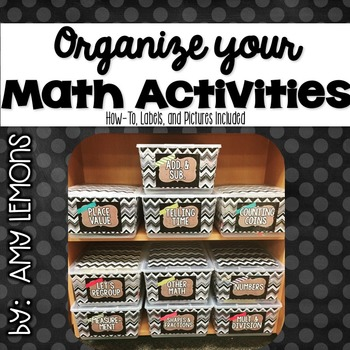 Organize Your Math Bins!  Labels {editable}