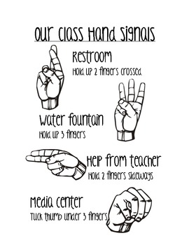 Our Class Hand Signals