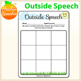 Outdoor Speech Therapy Worksheet