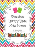 Overdue Library Book Note Home for Parents