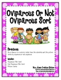 Oviparous or Not Oviparous Science Sort