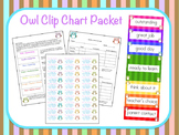 Owl Clip Chart Behavior Packet (Editable)
