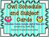 Owl Daily Schedule Cards