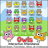 Owl Theme Interactive Attendance Sheet for Interactive Whi