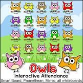 Owl Theme Interactive Attendance