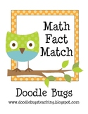 Owl Math Fact Match Pocket Chart Activity