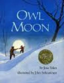 Owl Moon by Jane Yolen Writing Workshop Mini Lesson on Sou