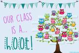 Owl Name Tree Bulletin Board