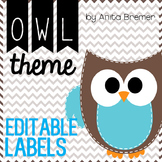 Owl Nametags/Cubby Labels