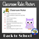 Owl Theme Classroom Rules Posters